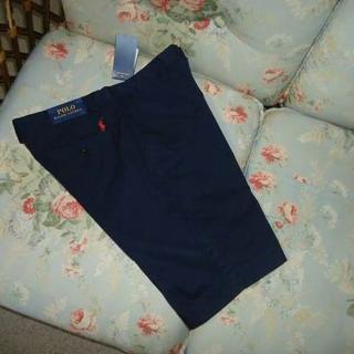 ラルフローレン(Ralph Lauren)の新品☆ラルフローレン ショートパンツ 紺 W32(ショートパンツ)