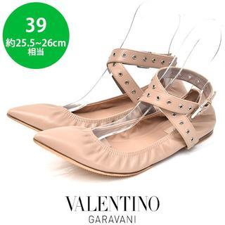 ヴァレンティノガラヴァーニ(valentino garavani)のヴァレンティノ ベルト バレエ パンプス 39(約25.5-26cm)(ハイヒール/パンプス)