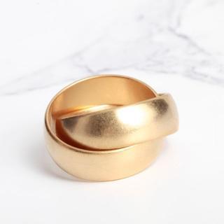 大人かわいい クロス ゴールドリング 【送料無料】(リング(指輪))