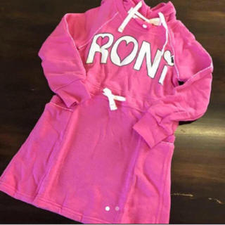 ロニィ(RONI)のRONI スウェットワンピ ピンク(ワンピース)