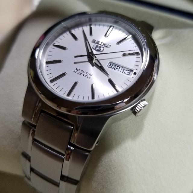 SEIKO - 【逆輸入品】SEIKO 5 自動巻き腕時計 デイトカレンダー【送料込】 の通販 by メリーさん。|セイコーならラクマ