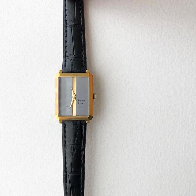 Christian Dior - 【仕上済】ディオール スクエア グレー文字盤 ゴールド レディース 腕時計の通販 by LMC|クリスチャンディオールならラクマ