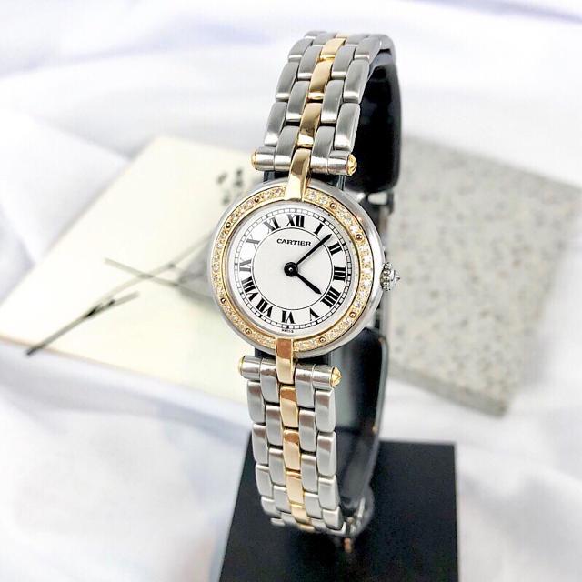 Cartier - 【仕上済】カルティエ パンテール ラウンド ダイヤ コンビ レディース 腕時計の通販 by LMC|カルティエならラクマ