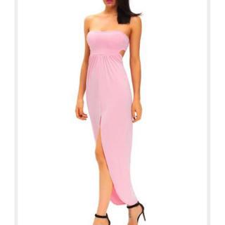 ラスト◆新品◆格安◆インポートドレス、ワンピ◆ピンクベアロング◆(ロングドレス)
