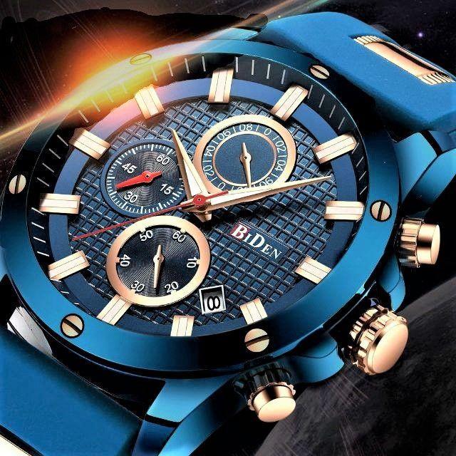 高性能クロノグラフ搭載 クォーツ腕時計 165の通販 by まちのとけいやさん shop|ラクマ