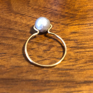 アッシュペーフランス(H.P.FRANCE)の淡水パール ゴールド リング(リング(指輪))