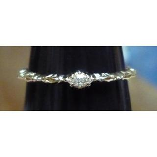 アガット(agete)のagete K10 マーキス ダイヤモンド リング(リング(指輪))