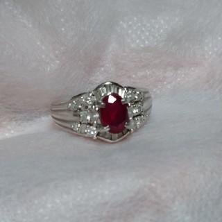 【鑑別書付】ルビー1.3ct&ダイヤモンド0.54ct(リング(指輪))