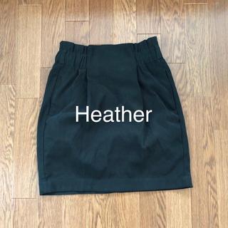 ヘザー(heather)のHeather スカート(ひざ丈スカート)