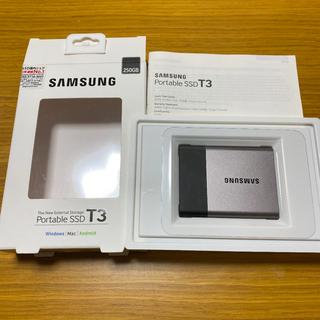 SAMSUNG - Samsung ssd t3 250gb ポータブルssd