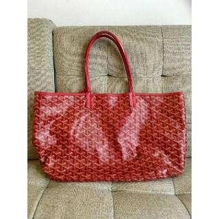 ゴヤール(GOYARD)の美品 ゴヤール goyard トートバッグ 赤 鞄 サンルイPM ブランド(トートバッグ)