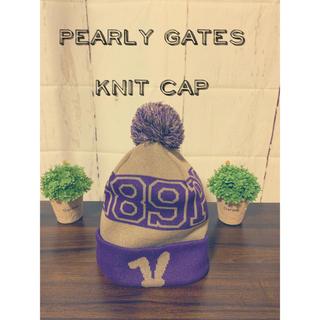パーリーゲイツ(PEARLY GATES)のpearly gates/中古/ニット帽/ビーニー/ロゴ/ユニセックス(ニット帽/ビーニー)