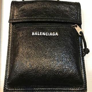 バレンシアガ(Balenciaga)のBALENCIAGA ポーチストラップ レザー ショルダーバッグ(ショルダーバッグ)