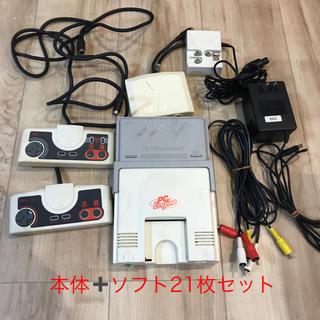 エヌイーシー(NEC)のPCエンジン セット ソフト21枚付き 初代機(家庭用ゲーム機本体)