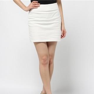 マーキュリーデュオ(MERCURYDUO)のカラータイトスカート MERCURYDUO(ミニスカート)
