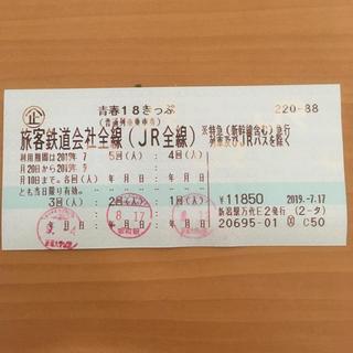 青春18きっぷ 残り2回(鉄道乗車券)