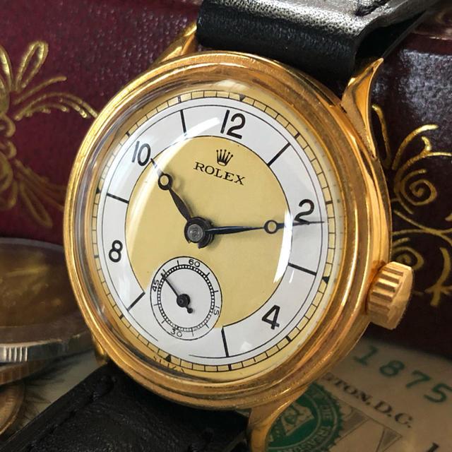 ROLEX - 一点限り ★ ROLEX ★ ロレックス 18KGP 手巻き腕時計 アンティークの通販 by A.LUNA        |ロレックスならラクマ