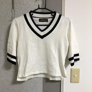 アンズ(ANZU)のVネック  トップス(カットソー(半袖/袖なし))