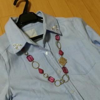 ゴールド×ピンク紫 ネックレス(ネックレス)