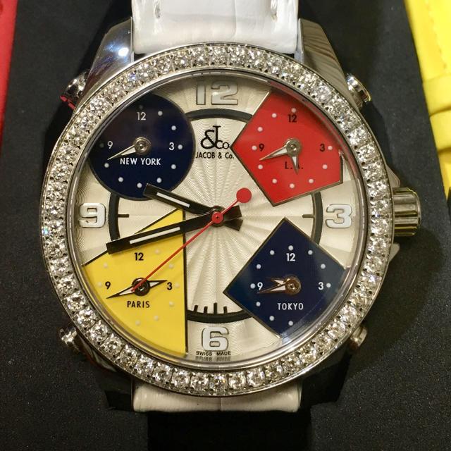 JACOB&Co. ジェイコブ 純正ダイヤモンド 腕時計 ファイブタイムゾーンの通販 by つんshop|ラクマ