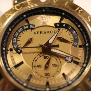 ヴェルサーチ(VERSACE)のヴェルサーチ VERSACE 替えベゼル付き クオーツ メンズ 腕時計(腕時計(アナログ))