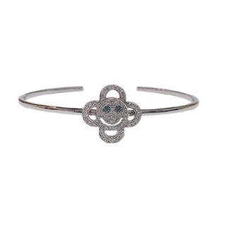 アイファニー(EYEFUNNY)のEYEFUNNY アイファニー 18k ホワイトゴールド バングル ダイヤモンド(ネックレス)