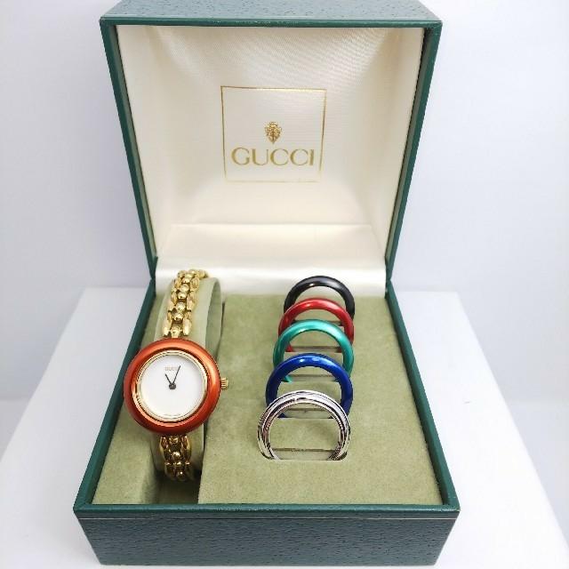 Gucci - GUCCI 腕時計 チェンジベゼル 6リング 稼働中 t107の通販 by ティファ's shop|グッチならラクマ