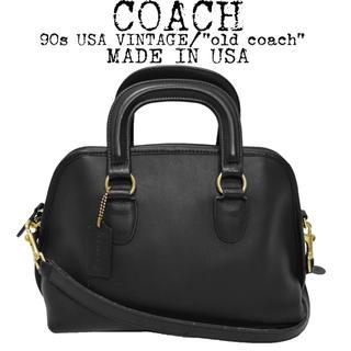 コーチ(COACH)の美品★COACH★オールドコーチ★90s★2wayショルダーバッグ★黒★USA製(ショルダーバッグ)