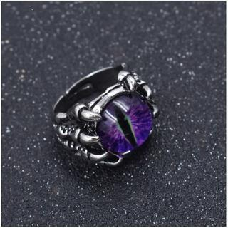 新品◆ドラゴンの目玉リング④ パープル(リング(指輪))