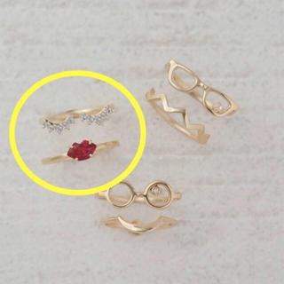 スタージュエリー(STAR JEWELRY)のStar jewelry girl ピンキーリング 2本セット(リング(指輪))
