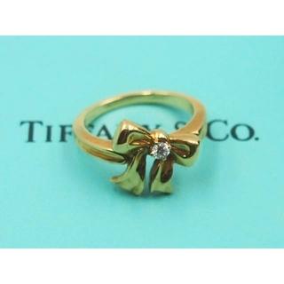 ティファニー(Tiffany & Co.)のTIFFANY ティファニーダイヤリング リボン8号(リング(指輪))