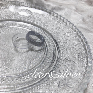 ~clear&silver ring~ 9号(リング(指輪))