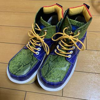 ヨースケ(YOSUKE)のYOSUKE  パイソン柄マルチカラー厚底ブーツ(ブーツ)