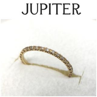 ジュピターゴールドレーベル(jupiter GOLD LABEL)のジュピター K18 ダイヤモンド フルエタニティ リング 7号 0.16ct(リング(指輪))