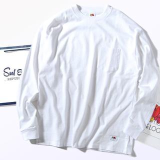ロンハーマン(Ron Herman)のFruit Of The Loom ビッグロンT 白L 厚手 Tシャツ 長袖(Tシャツ/カットソー(七分/長袖))