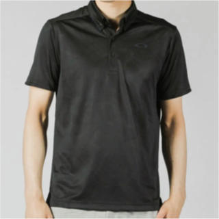 オークリー(Oakley)の新品 オークリー 半袖ポロシャツ Mサイズ(USサイズS) ブラック(ポロシャツ)
