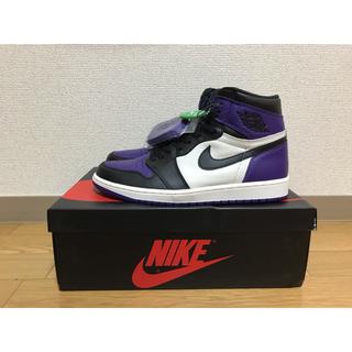 ナイキ(NIKE)のJordan 1 Retro High Court Purple 28cm (スニーカー)