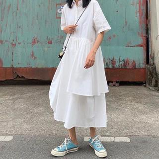 スタイルナンダ(STYLENANDA)の韓国ファッション♡ロング丈シャツワンピ(ロングワンピース/マキシワンピース)