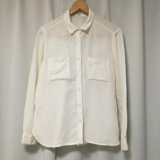 ジーユー(GU)の白シャツ(シャツ/ブラウス(長袖/七分))