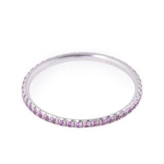 ティファニー(Tiffany & Co.)の★TIFFANY & Co ティファニー★ピンクサファイア メトロ リング(リング(指輪))