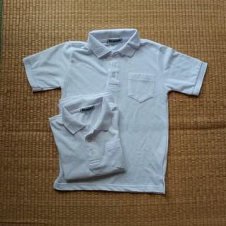 シマムラ(しまむら)の130㎝半袖白ポロシャツ二枚セット(Tシャツ/カットソー)