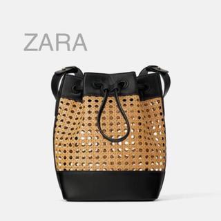 ザラ(ZARA)の新品 タグ付き 2019ss ザラ かごバッグ 巾着 ショルダー  完売品(ショルダーバッグ)