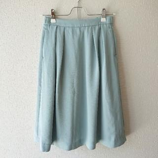 ユニクロ(UNIQLO)のユニクロ レディーススカート 膝丈 sサイズ エメラルドグリーン(ひざ丈スカート)