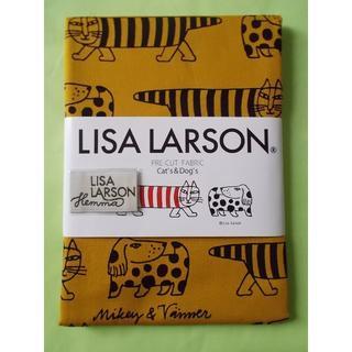 Lisa Larson 手芸用生地 Cat's & Dog's ライトブラウン