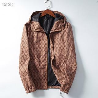 グッチ(Gucci)のGUCCI美品のカジュアルメンズファッションプリントジャケットL(ブルゾン)