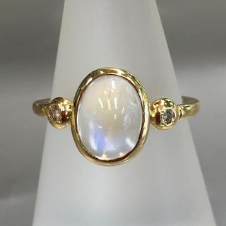 K18 オパール ダイヤデザインリング/指輪(リング(指輪))