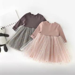 チュールワンピース ドレス キッズ ベビー(ワンピース)