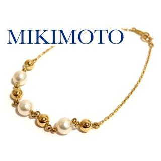 ミキモト(MIKIMOTO)の御木本 ミキモト K18YG アコヤ パール ブレスレット 真珠(ブレスレット/バングル)