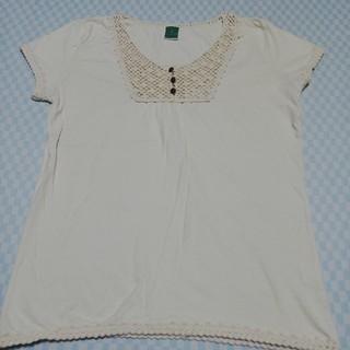 ジエンポリアム(THE EMPORIUM)のTHE  EMPORIUM  かぎ針編み Tシャツ M サイズ(Tシャツ(半袖/袖なし))