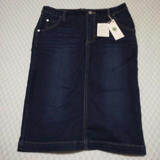 イッカ(ikka)の新品 ikka  デニムタイトスカート L サイズ(ひざ丈スカート)